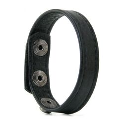 3 Snap Buckle Leather Cock Ring
