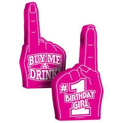 #1 Birthday Girl Foam Hand