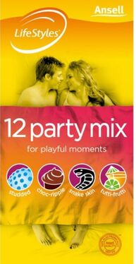 Ansell LifeStyles Party Mix 12 pack