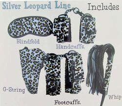 Aphrodisia Silver Leopard Mistress Bondage Kit Silver