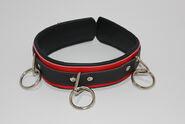 BondageInc Bondage Red and Black Collar with O-Rings