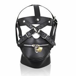 BDSM Hood Harness & Muzzle Thin