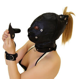 Bondage Hood With Dildo Gag