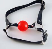 BDSM Ball Gag with Chin Strap Thin