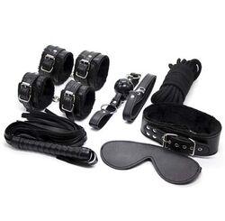 Black Plush SM Bondage Kit 7 Pcs