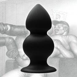 Black Silicone Anal Plug