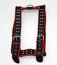 Brace Black & Blue Leather Body Harness