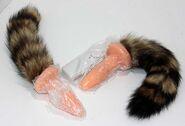 Brown Fox Tail Soft Anal Plug