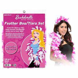 Bachelorette Feather Boa/Tiara Set