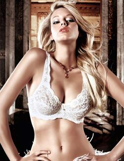 Baci Lace Demi Bra White
