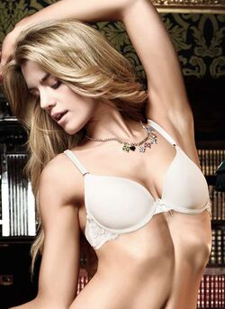 Baci Microfibre And Lace Bra Ivory