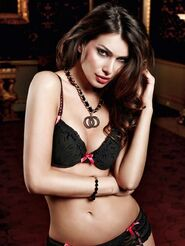 Baci Padded Bra With Raspberry Detail