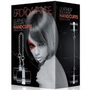 Bad Romance Leather Black & White Hand or Leg Cuffs