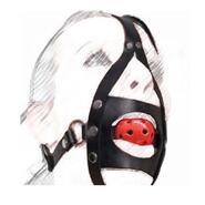 BDSM Full Head Harness With Gag Thin