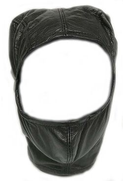 BDSM Open Face Mask Faux Leather