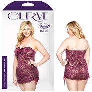 Curve Lace Strapless Dress & G-String