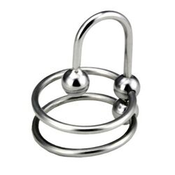 Double Ring Balled Penis Plug