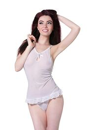 De Namour Babydoll with Pearls & G-String