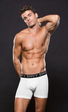 Envy Micro LowRise Logo Elastic Boxer White