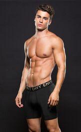 Envy Micro LowRise Logo Athletic Long Boxer Black