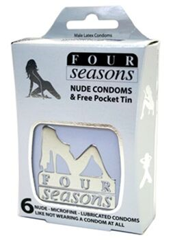 Four Seasons 6s Nude Condom in White Collectors Tin