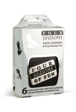 Four Seasons 6s Nude Condom in Black Collectors Tin