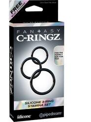 Fantasy C-Ringz Silicone 3-Ring Stamina Set
