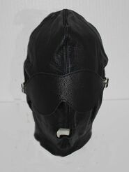 Fetish Supplies Leather Bondage Hood