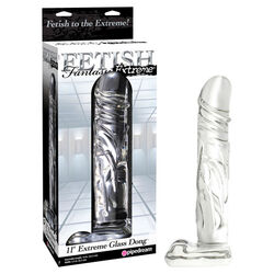 Fetish Fantasy Extreme 11 Inch Extreme Glass Dong