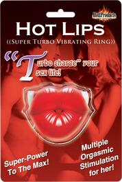 Hot Lips Vibrating Cock Ring