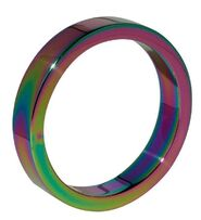 Heavy Duty Rainbow Metal Cock Ring 8mm