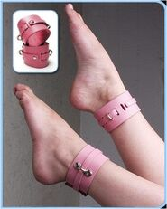 KinkLab Bound Leather Ankle Cuffs