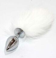Kitten Tail Metal Butt Plug Silver