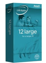 Lifestyle Larger Condoms 12 pieces