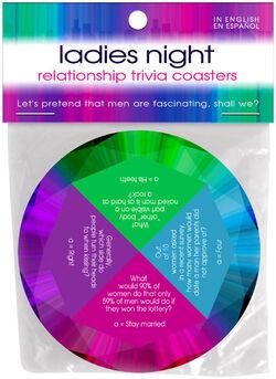 Ladies Night Trivia Coasters