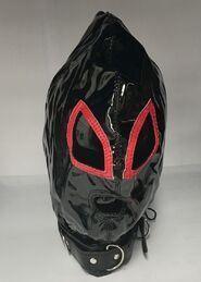 Ladies Red & Black Bondage Hood