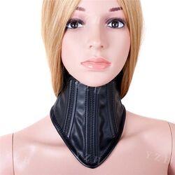 Ladies BDSM Neck Corset Faux Leather