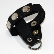 Leather Cock Ring & Ball Divider
