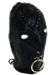Leather Spiked Devil Hood