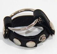 Leather Testicle & Metal Penis Rings