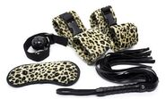 Leopard Print Soft Restraint Kit 5 piece