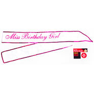 Miss Birthday Girl Sash