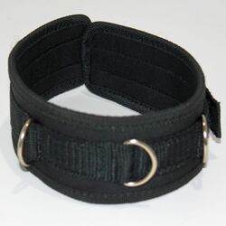 Neoprene BDSM Velcro Collar with D Links