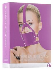 Ouch! Leather Mouth Gag Purple
