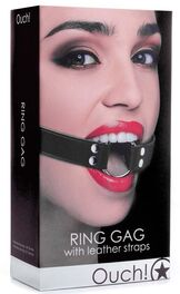Ouch Ring Gag With Leather Straps