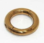 Oval Ball Metal Stretcher Gold