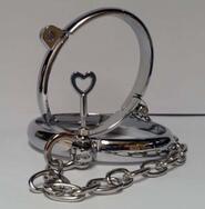 Oval Cold Steel Bondage Cuffs