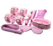 Pink Plush SM Bondage Kit 6 Pcs