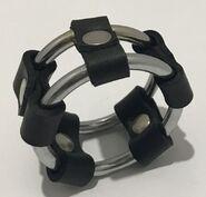 Plain Tube Steel Double Cock Ring Black