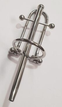 Prince Albert Wand With Barbell & Glans Ring